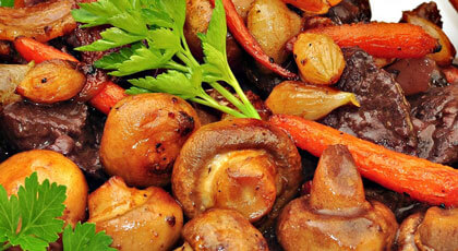 Red Wine & Mushroom Beef Tips