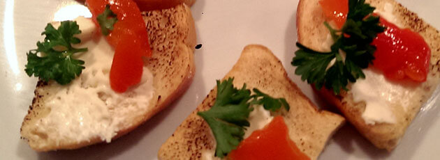 Goat Cheese & Roasted Red Pepper Crostini