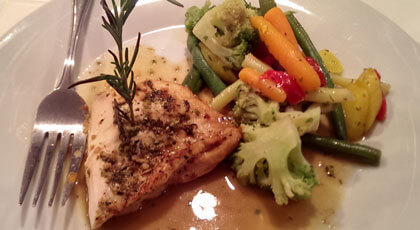 White Wine Chicken with Mixed Vegetable Medley